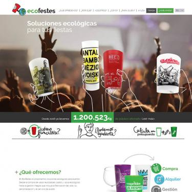 Optimization and SEO or web positioning of the Ecofestes website