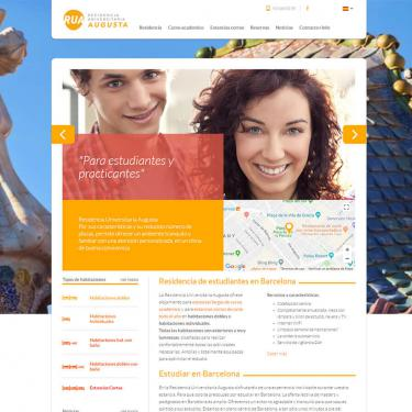 Web design and marketing online for Agusta students residence