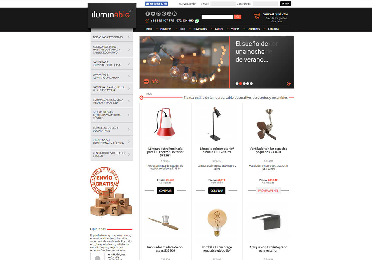New ecommerce Iluminable