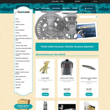 Ecommerce design for Pescaworld
