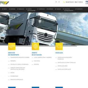 Robetrans website design