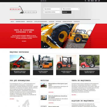 Online marketing and web design for Euromaquinas Cap