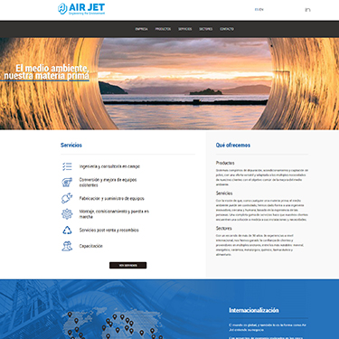 Air Jet: new website and SEO