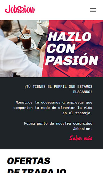 web responsive design for jobssion
