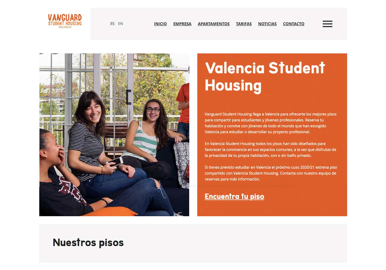 Web for Valencia Student Housing